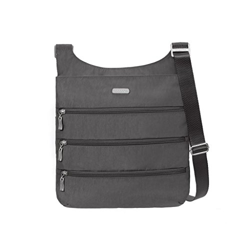 baggallini Big Zipper Bagg with RFID (Charcoal) by Baggallini