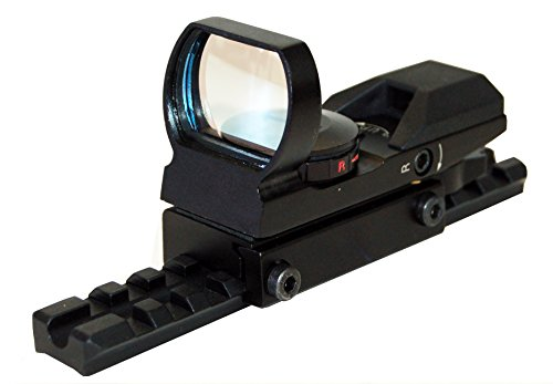Trinity Mossberg 500 Tactical Red and Green Dot Sight Combo Home Defense Hunting Optics Accessory Tactical Aluminum Black Picatinny Weaver Base Mount Adapter Single Rail.