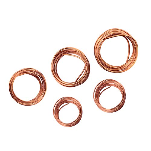 Fatpig Bonsai Wire Set,Copper Bonsai Coaching Wire for Bonsai Tree Equipment 1.0mm,1.5mm,2.0mm,2.5mm, 3.0mm (Bronze)