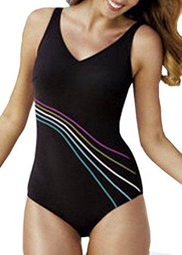 Bilbao 6303 One-Piece Mastectomy Swim Suit by Anita - Black (38E/DD)