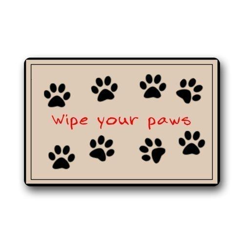 ZOE STORE Animal Doormats Dog Claw Iutdoor Doormat Entry Way Outdoor Door Mat with Non Slip Backing