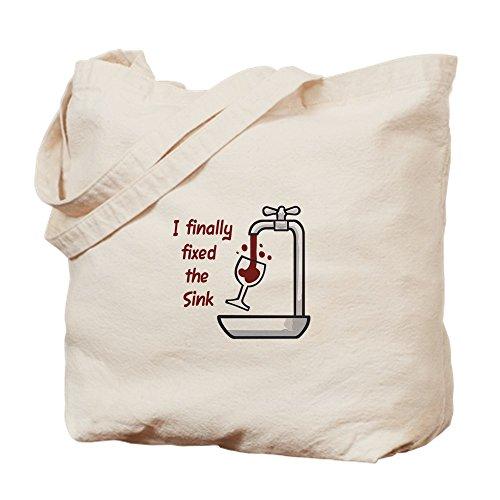 CafePress color I por último fija el fregadero–Gamuza de bolsa de lona bolsa, bolsa de la compra Small caqui