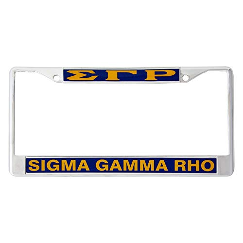 (Desert Cactus Sigma Gamma Rho Metal License Plate Frame for Front Back of Car (Metal -)