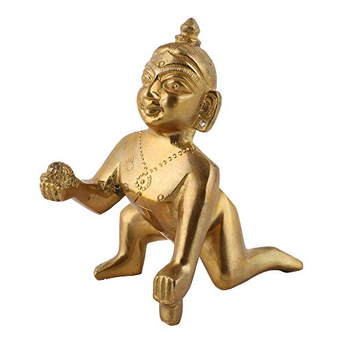 UAPAN Brass Laddu Gopal Idol (7CM_2 No Size)