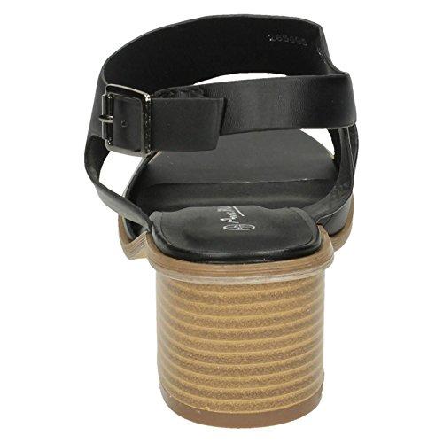 Style Sandales Michelle 587 Noir Larges Ajustement Le Dames Anne YdPcqqg