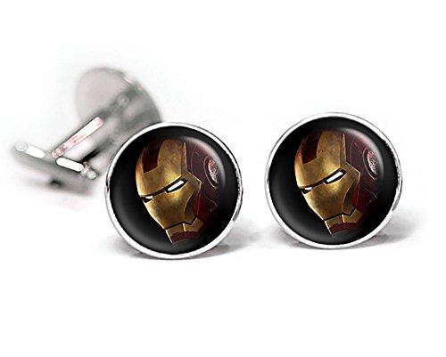 Ironman Cufflinks, Iron Man Tie Clip, Avengers Jewelry, Age of Ultron Tack, Superhero Wedding Party Jewelry Gifts, Groomsmen