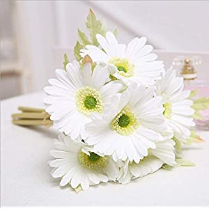 """Meide Group USA 20"""" Tall Real Touch Latex Gerbera Daisy Artificial Flowers for Home Decor, Weddings. Improved Version (5 pcs) 111"""