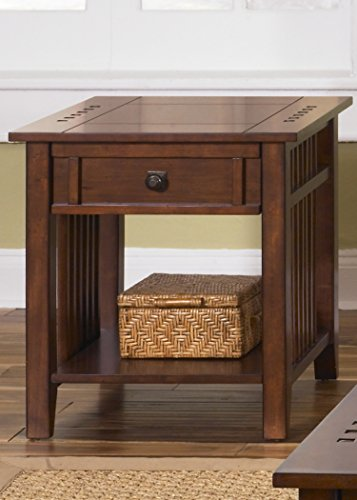 Liberty Furniture INDUSTRIES 409-OT1020 Prairie Hills Occasional End Table, Satin Cherry Finish, ()