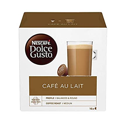 Nescafe Dolce Gusto Cafe Au Lait 16 Pods: Amazon.com ...