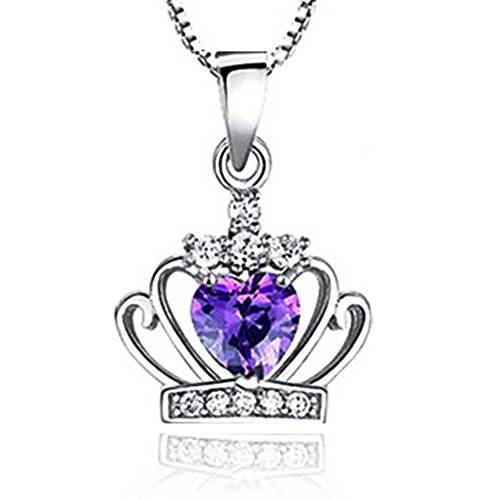Sephla Crystal Princess Pendant Necklace