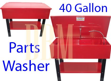 Electric 40 Gallon Parts Washer Cleaner Solvent Pump Tank