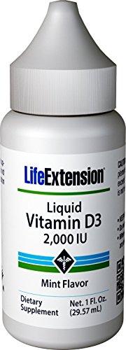Life Extension Liquid Vitamin D3 2000 Iu, Mint, 1 Fluid Ounce