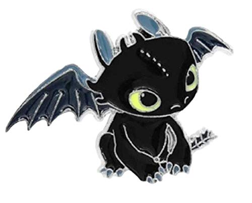 Main Street 24/7 How to Train Your Dragon Toothless Night Fury Enamel Metal Logo Pin