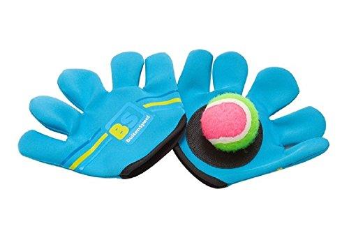 GamePoint Outdoor Gloves - Handschuh-Fang-Kugel-Spiel aus Neopren + 1 Badetier
