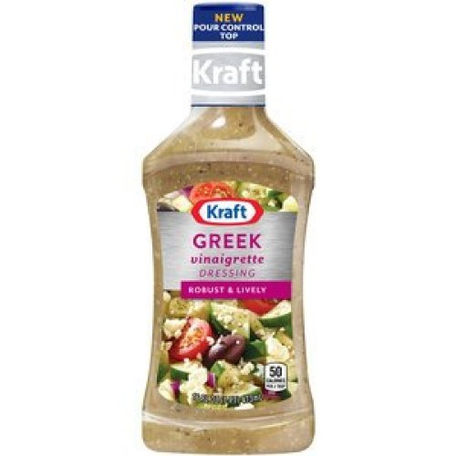 Red Onion Vinaigrette (Kraft Greek Vinaigrette Salad Dressing 16 Fl. Oz. Plastic Bottles (2 Pack))