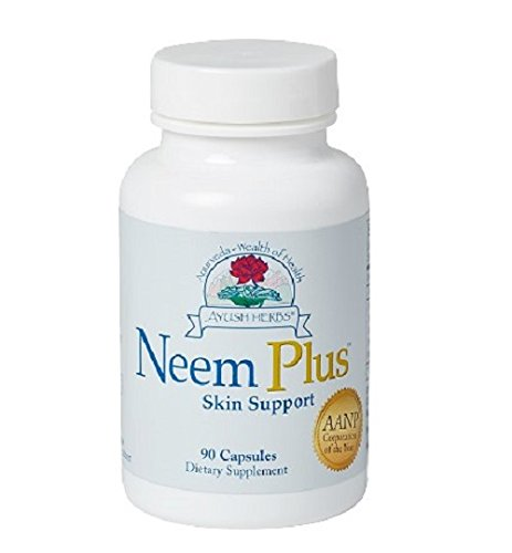 Ayush Herbs Neem Plus Herbal Supplement, 90 Count