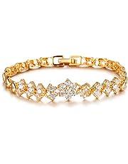 Swarovski Elements 18K Gold Plated Bracelet Lady Diamonds Bangle Crystal Bracelet