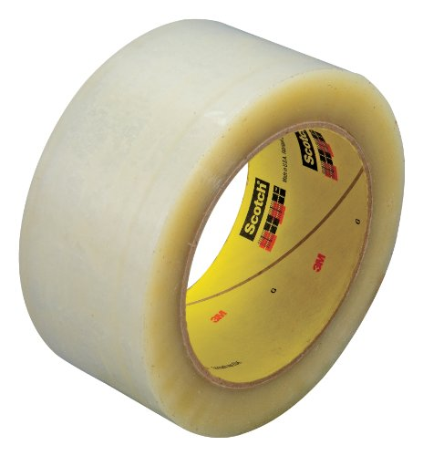 Scotch Box Sealing Tape 355 Clear, 48 mm x 50 m, High Performance, Conveniently Packaged (Pack of 1)