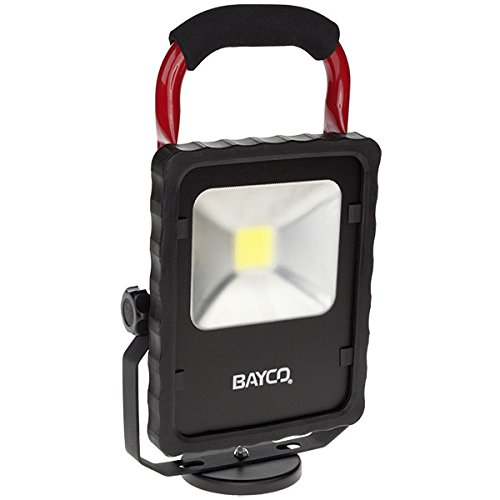 Bayco SL-1514 2200 lm LED Single Fixture Work Light with Magnetic Base, Red/Black