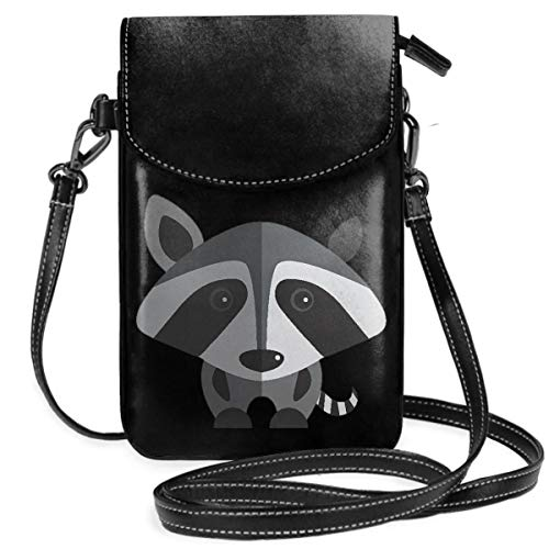 Small Cell Phone Purse For Women Leather Raccoon Insides Card Slots Crossbody Bags Wallet Shoulder Bag