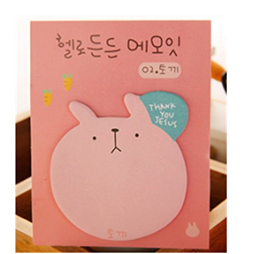 KAKA(TM) Cute Creative Colorful Thinking Sticky Notes Post-it Paper Marker Memo Sticker Bookmark- pink 20 pages