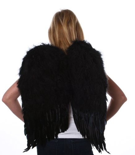 Black Feather Wings Costume (Zucker Feather (TM) - Medium Feather Angel Wings - Black)
