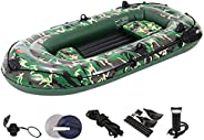 3 Person Inflatable Boat Canoe - raft Inflatable Kayak, Fishing Boat Kayak,1,2,3,4 Person Boat,with Oars,Cushi
