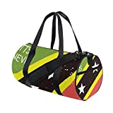 Distressed Kitts And Nevis Flag Travel Duffel Shoulder Bag ,Sports Gym Fitness Bags
