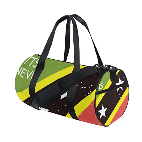 Distressed Kitts And Nevis Flag Travel Duffel Shoulder Bag ,Sports Gym Fitness Bags by super3Dprinted