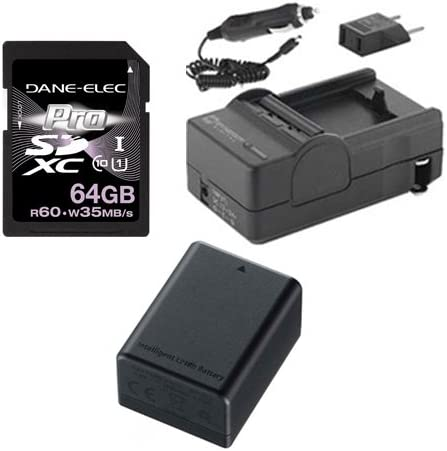 KSD64GB Memory Card Canon PAL//HF R306 HD Camcorder Accessory Kit includes SDM-1556 Charger SDBP718 Battery