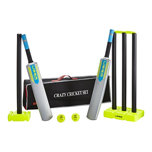 Uber Games Backyard Crazy Cricket Plastic Cricket Set-Full Size