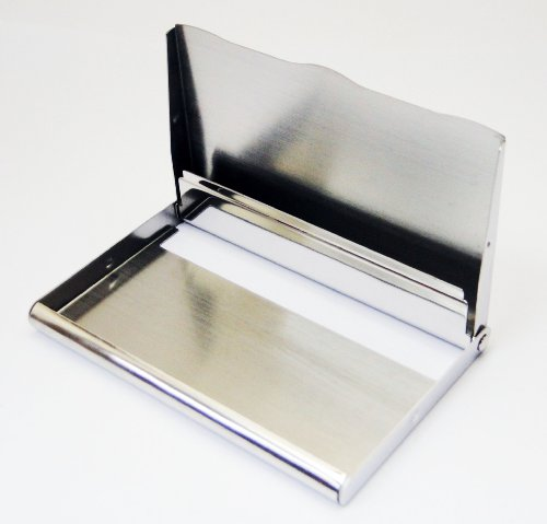 0 Wave Tapp Steel Business Stainless Shiny Ripple Edge Strips Card Collections Case Name Holder Black rqP7UFrB