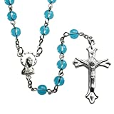 Rosary Bulk Lot for Students First Communion or Church Groups Aqua Rosaries, Pack of 10
