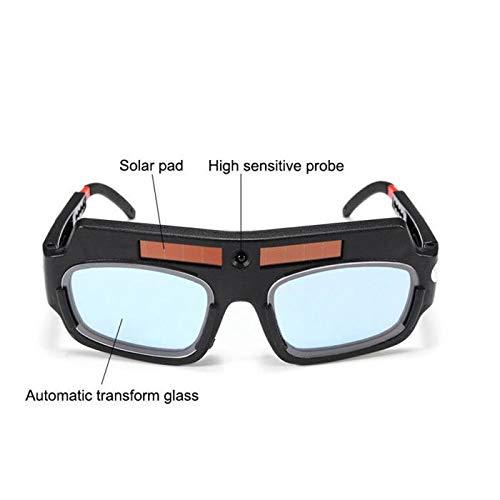 Welding Goggles Zinnor Welding Glasses Mask Lens Helmet Auto Darkening Solar Powered Anti-scraping Welder Glasses Arc PC Lens For Welding Protection by Zinnor (Image #5)