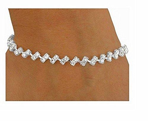 Dazzling Austrian Crystal Zig-zag Latch-clasp Bracelet by Lonestar Jewelry