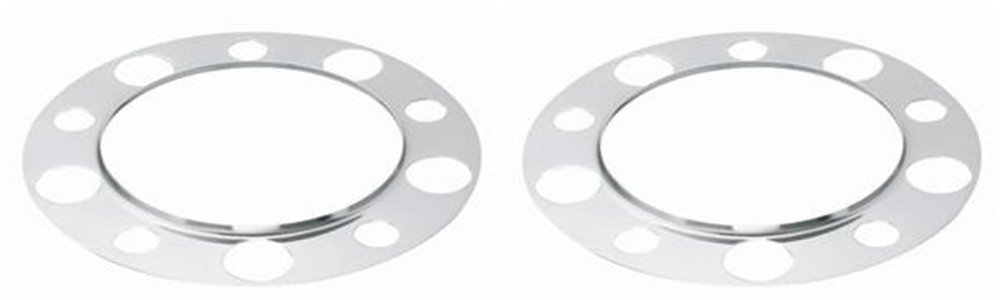 2 Chrome Beauty Rings For Steel Wheels Stud Piloted NEW