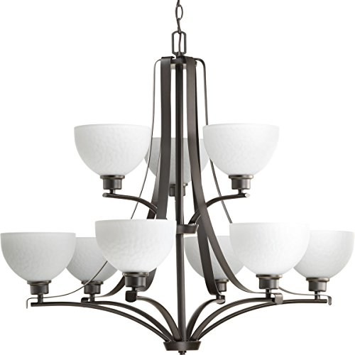 Progress Lighting P4272-20 Transitional Nine Light Chandelier from Legend Collection Dark Finish, Antique Bronze