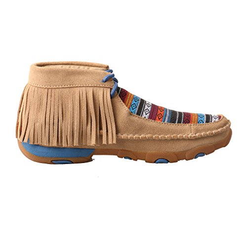 Twisted X Women's Leather Lace-up Rubber Sole Driving Moccasins - Serape/Fringe by Twisted X (Image #1)