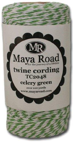 Maya Road Baker's Twine Cording, Celery Green (Baker Card)