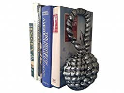 Handcrafted Model Ships 2-k-49007-silver 10 in. Cast Iron Sailors Knot Book Ends, Set Of 2 - Antique Silver
