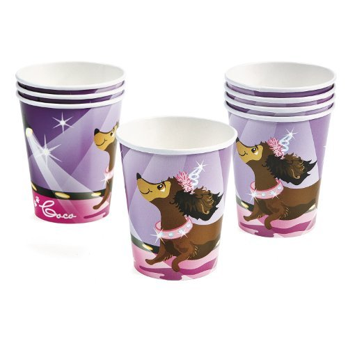 Fashion Puppy Paper Cups (8 pc)