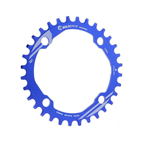 Solodrive 104BCD Single Chainring For 9/10/11-Speed,Blue,32T