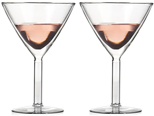 (Amlong Crystal Lead Free Double Wall Martini Glasses, Set of 2)