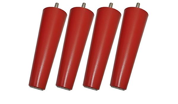 Legheads - Patas de repuesto para muebles M8 de Ikea, como sofás y camas , Daredevil Red, M8 - 8mm