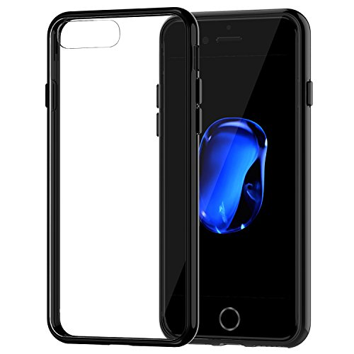 iPhone 7 Plus Case, JETech Apple iPhone 7 Plus Case Cover Shock-Absorption Bumper and Anti-Scratch Clear Back for iPhone 7 Plus 5.5 Inch (Black) - 3431