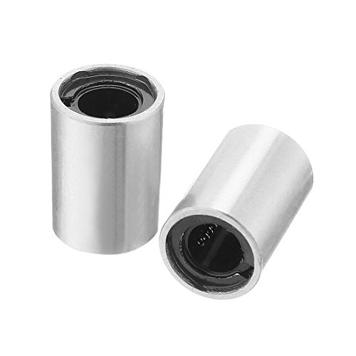 uxcell 2pcs LM4UU 4mm Bore Double Side Rubber Seal Linear Motion Ball Bearing Bushing ()