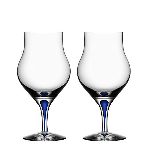 Orrefors Intermezzo Blue 8.6 Ounce Snifter, Set of 2 by Orrefors
