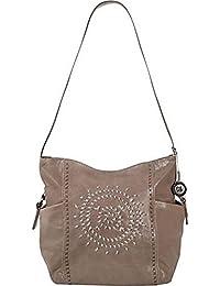 Kendra Bucket Whipstitch Shoulder Bag Shitake