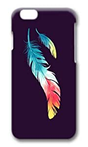Apple Iphone 6 Case,WENJORS Cool Feather Hard Case Protective Shell Cell Phone Cover For Apple Iphone 6 (4.7 Inch) - PC 3D