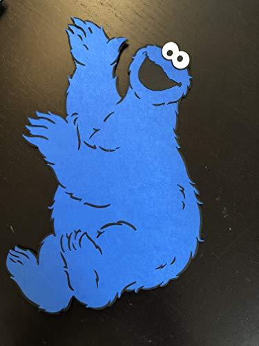 Cookie monster 8 inch Die cut